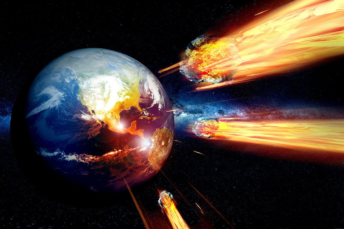 Mehrere Asteroiden treffen auf die Erde