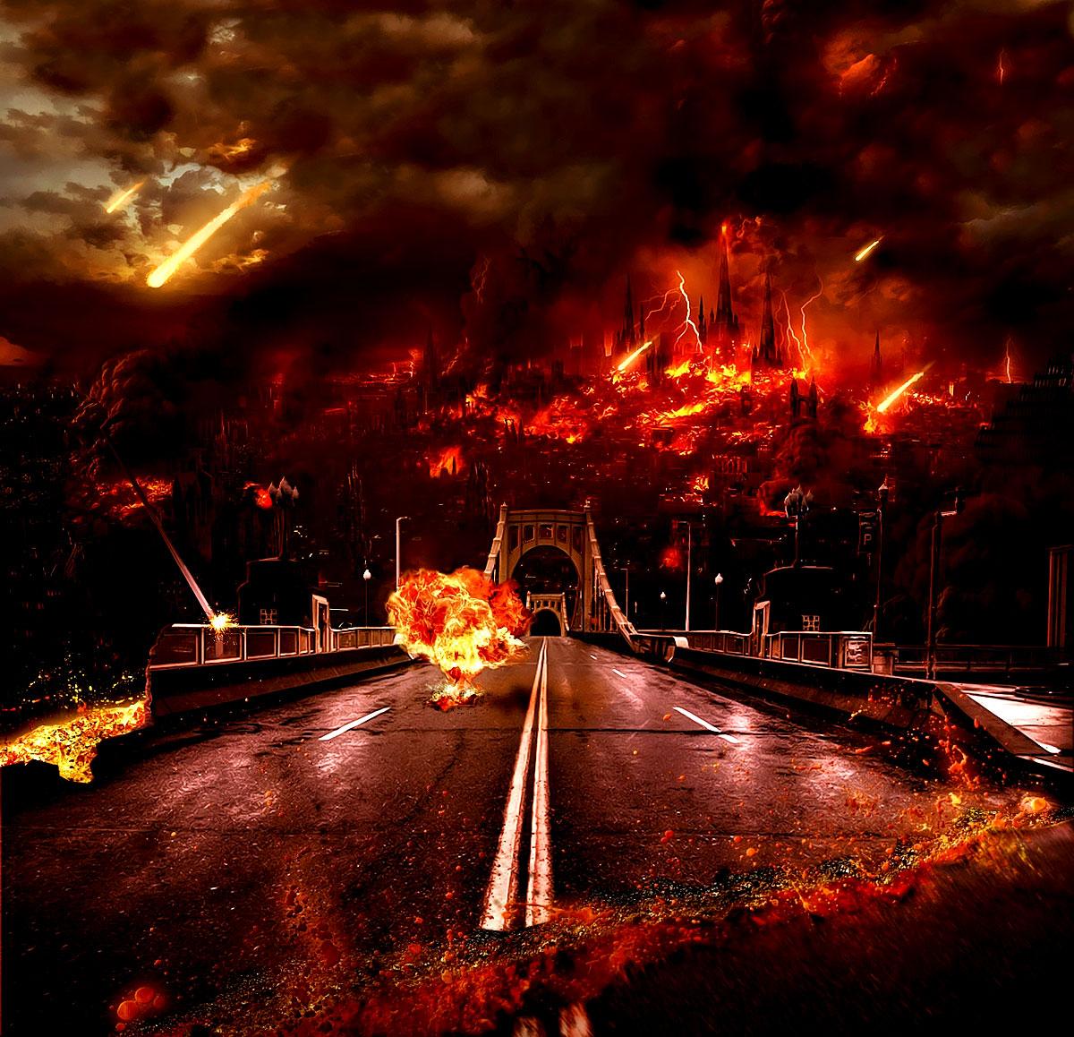 Weltuntergang: Ein Feuerregen zerstört die Erde