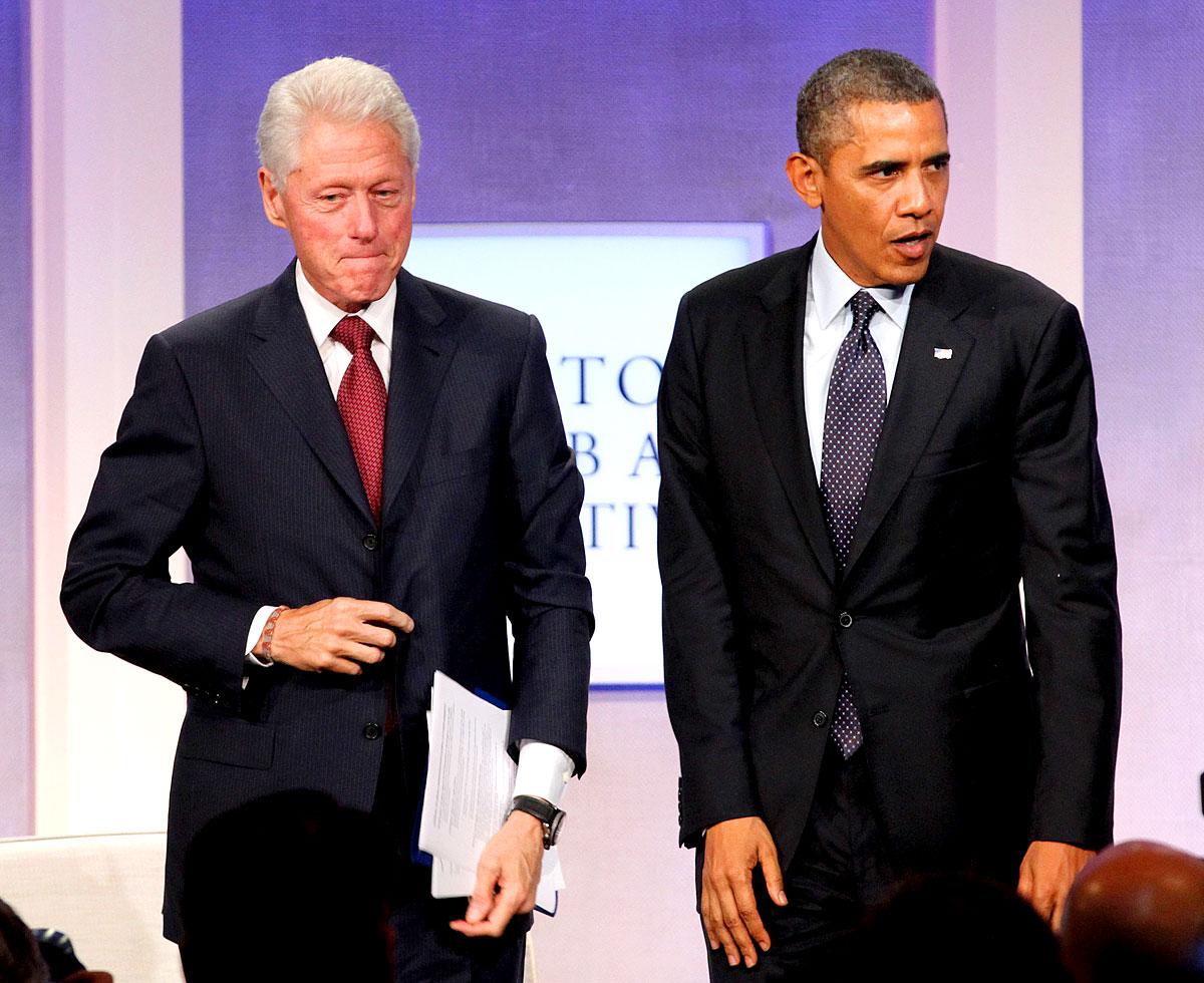 Barack Obama mit Bill Clinton