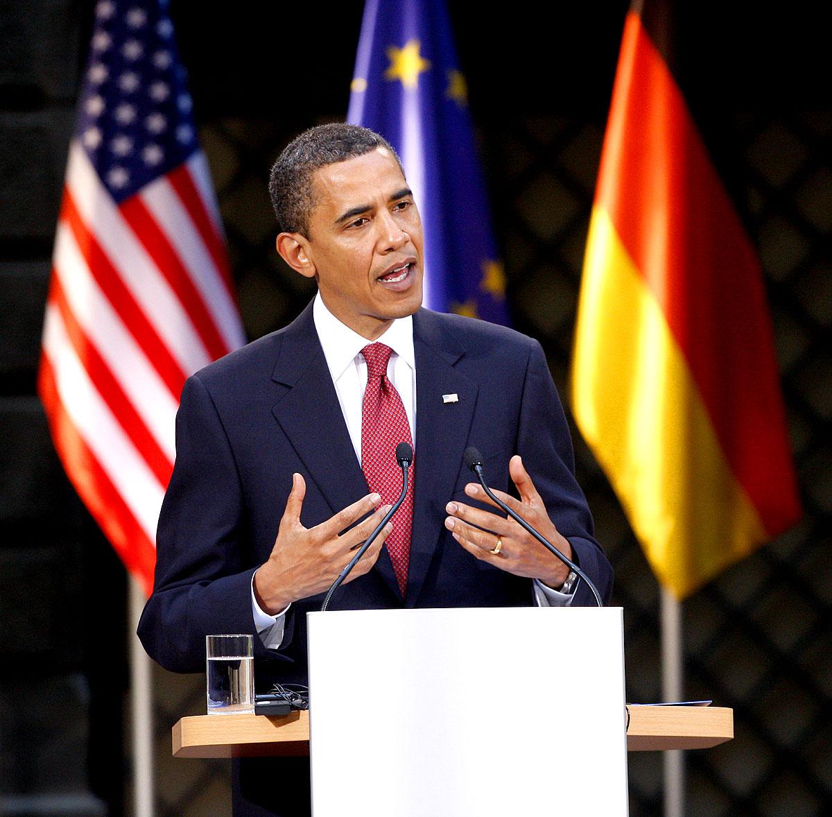 Barack Obama in Dresden, Deutschland