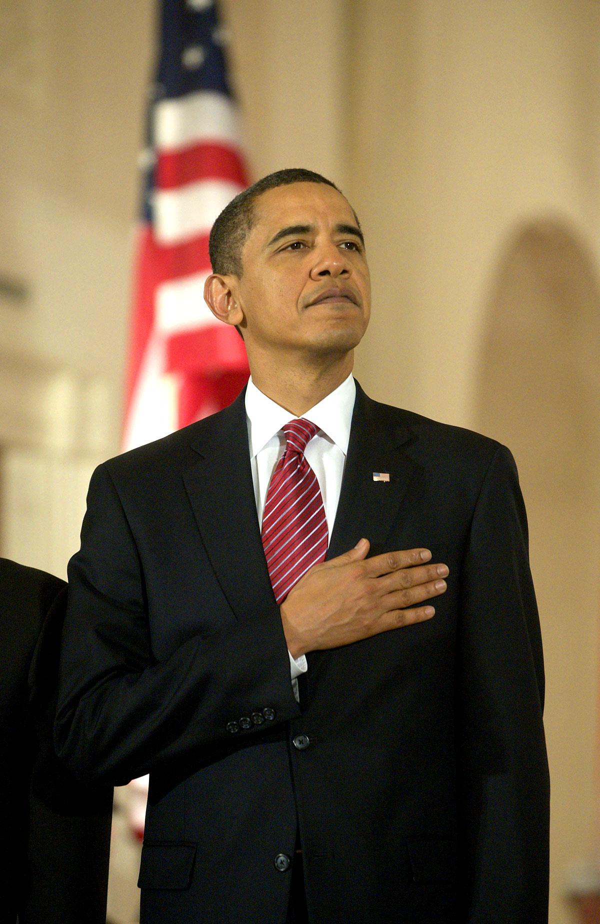 Barack Obama beim Empfang für den indischen Ministerpräsidenten in Washington