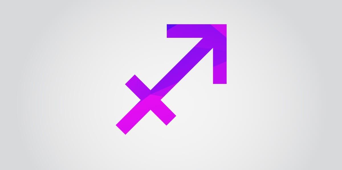 Symbol des Sternzeichens Schütze