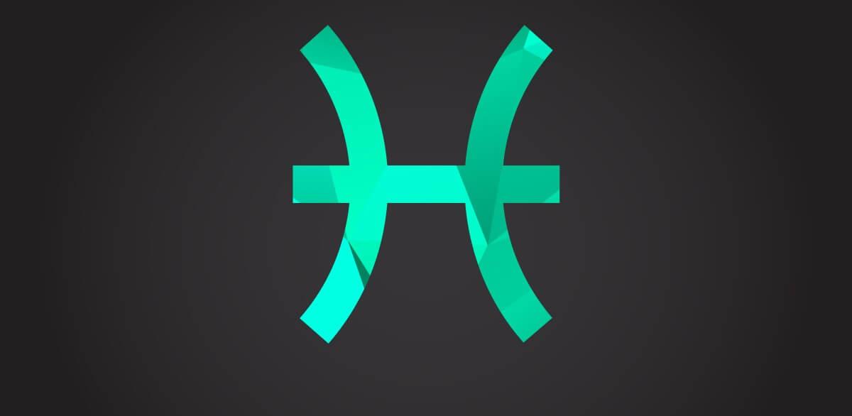 Symbol des Sternzeichens Fische